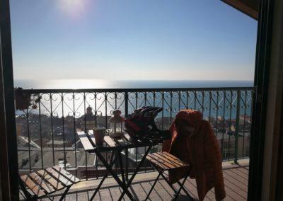 balcon avec splendide vue mer