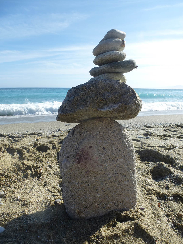 Free Climbing on the beach